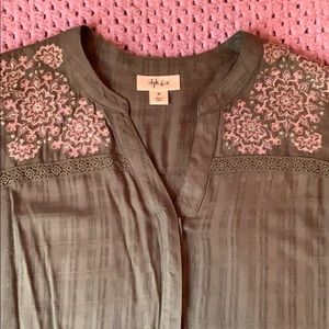 Olive Green Embroidered Tunic